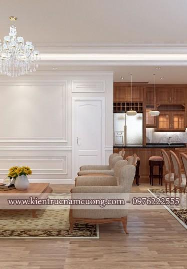 Nội thất tân cổ điển đẹp cho chung cư tại Hải Phòng - NTCCCD 014