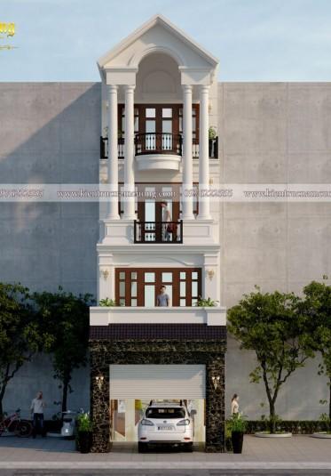 Mẫu thiết kế nhà ống tân cổ điển 4 tầng ấn tượng - NPTCD 007