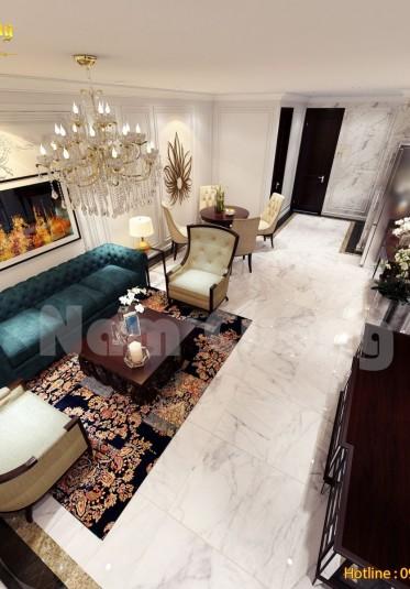 Thiết kế nội thất nhà ống tân cổ điển tại Hải Phòng