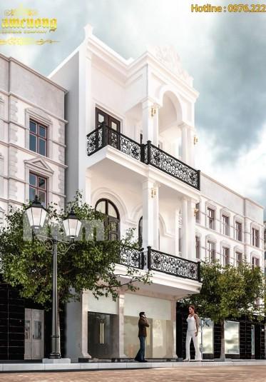 Mẫu thiết kế nhà phố tân cổ điển 3 tầng sang trọng tại Hải Phòng - NPTCD 015