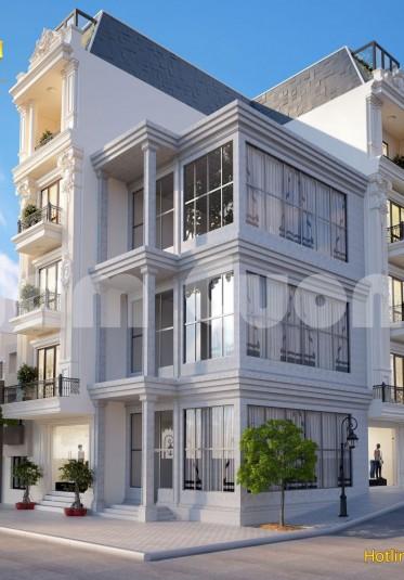Thiết kế kiến trúc nhà ống tân cổ điển hai mặt tiền 5 tầng - NPTCD 022