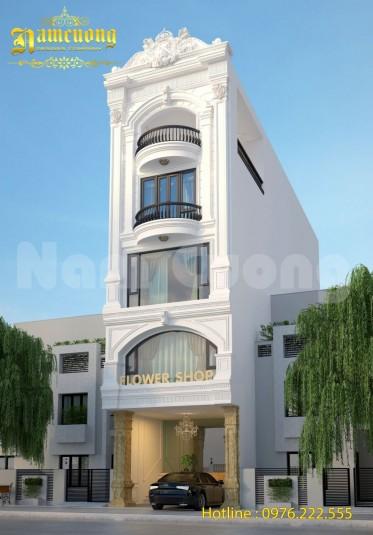 Mẫu thiết kế nhà ở kết hợp kinh doanh 5 tầng  tại Bình Dương
