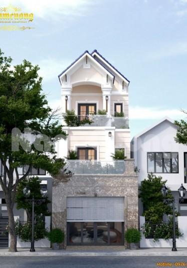 Hoàn thành thiết kế nhà phố tân cổ điển tại Hải Phòng-CĐT Nguyễn Hoàng Đạo