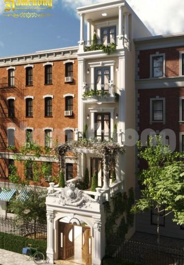 Vẻ đẹp của nhà phố tân cổ điển mái bằng tại Đà Nẵng