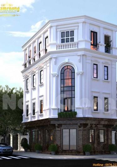 Thiết kế nhà lô góc 4 tầng ấn tượng và độc đáo