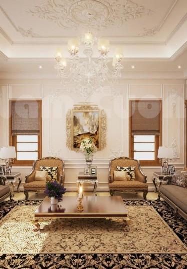 10 mẫu thiết kế phòng khách sang trọng với phong cách tân cổ điển