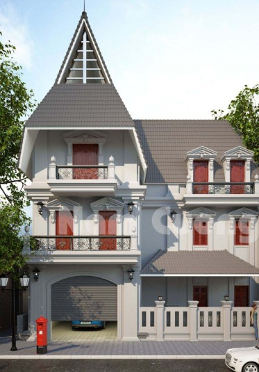Mẫu thiết kế nhà tân cổ điển theo phong cách gothic