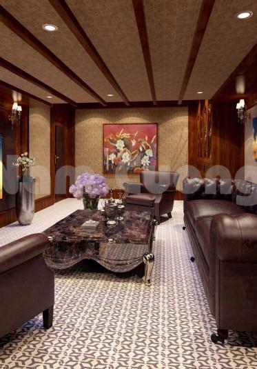 Thiết kế phòng hát gia đình trên tầng áp mái