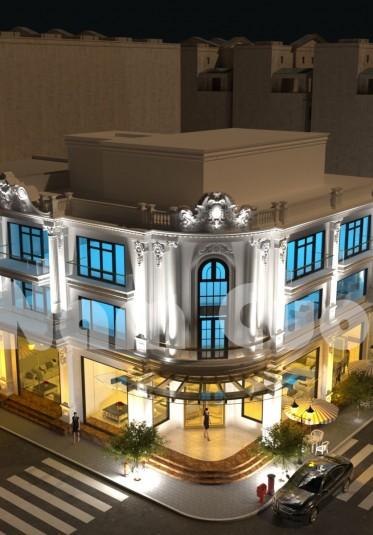 Mẫu biệt thự đẹp 3 tầng mái bằng tại Nghệ An