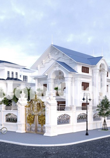 Hoàn thành thiết kế kiến trúc và nội thất biệt thự tân cổ điển tại Hải Phòng - BTTCD 031