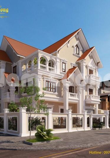 Kiến trúc tân cổ điển-Biệt thự tân cổ điển 3 tầng 2 mặt tiền