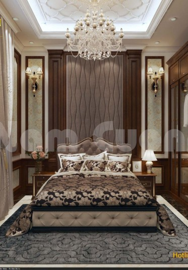 Mẹo thiết kế nội thất phòng ngủ cho khách sạn tân cổ điển đẹp