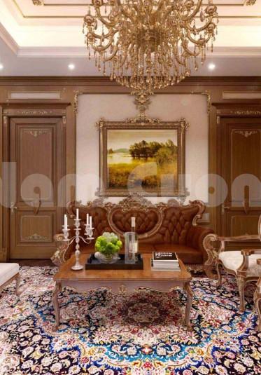 Nội thất tân cổ điển- Thiết kế phòng sinh hoạt chung biệt thự tân cổ điển