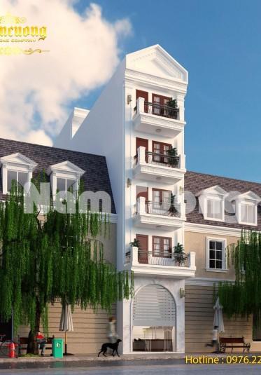 Bật mí cách thiết kế kiến trúc nhà ống tân cổ điển tại Vĩnh Phúc - BTTCD 035