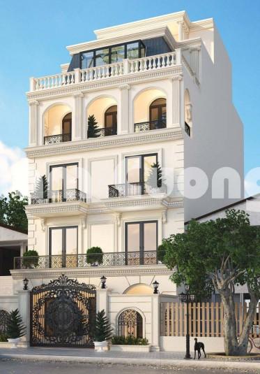 Mẫu kiến trúc biệt thự Pháp ấn tượng giữa lòng Sài Gòn