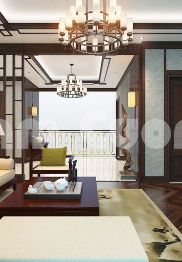 Nội thất mẫu biệt thự tân cổ điển phong cách Á Đông