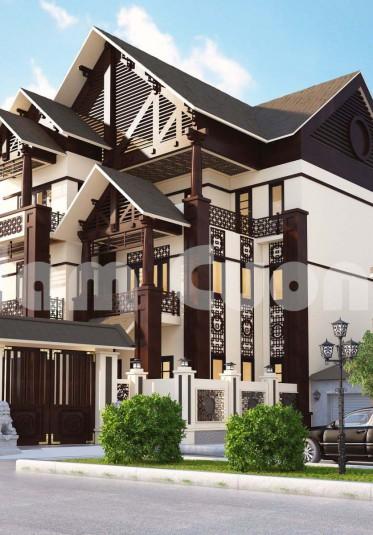 Hoàn thành thiết kế biệt thự tân cổ điển 3 tầng tại Vĩnh Phúc