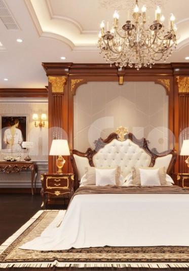 Kiến trúc Pháp-Thiết kế phòng ngủ cho biệt thự Pháp
