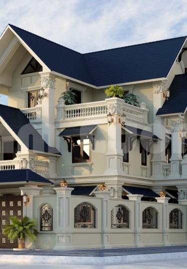 Hoàn thành thiết kế biệt thự tân cổ điển 3 tầng