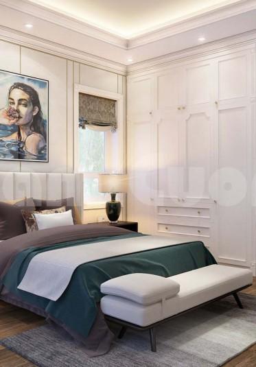 Nội thất phòng ngủ tân cổ điển cho biệt thự 3 tầng đẹp