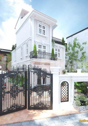Nhẹ nhàng, tinh tế với mẫu biệt thự tân cổ điển 2 tầng nhỏ xinh
