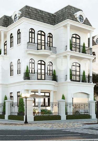 Thiết kế nhà đẹp- Biệt thự tân cổ điển 3 tầng tại Vinhomes