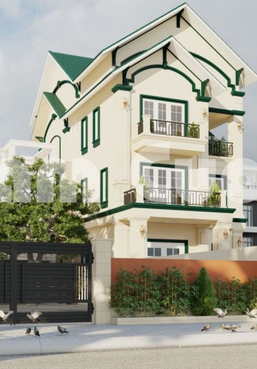 Thiết kế biệt thự đẹp 3 tầng tân cổ điển tại Hải Phòng