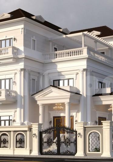 Biệt thự tân cổ điển mái thái 3 tầng đẹp tại Vũng Tàu