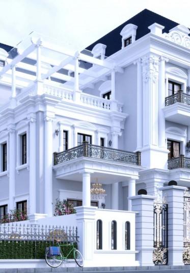 Thiết kế biệt thự tân cổ điển 3 tầng mặt tiền 9m tại Đà Nẵng-BTTCD 16790