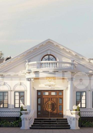 Thiết kế biệt thự 1 tầng mái thái đẹp tại Hà Nội