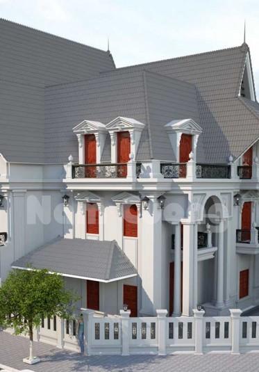Mẫu thiết kế biệt thự phong cách kiến trúc gothic