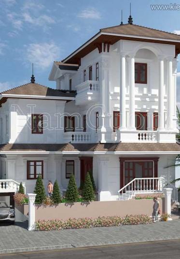 5 mẫu thiết kế biệt thự tân cổ điển 3 tầng đẹp nhất