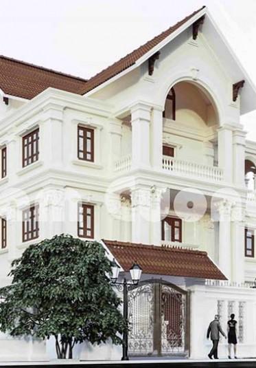 Mẫu thiết kế biệt thự tân cổ điển 5 phòng ngủ đẹp