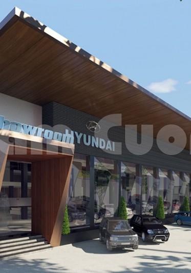 Mẫu thiết kế showroom ô tô Hyundai hiện đại đẳng cấp