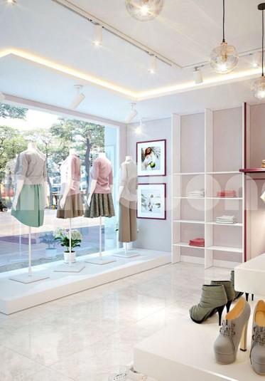 Mẫu thiết kế nội thất shop thời trang sinh viên cơ sở 3