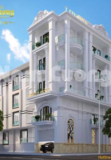 Mẫu thiết kế khách sạn mini 2 mặt tiền tân cổ điển