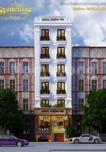Thiết kế khách sạn 7 tầng tân cổ điển sang trọng tại Sài Gòn - KSTCD 003