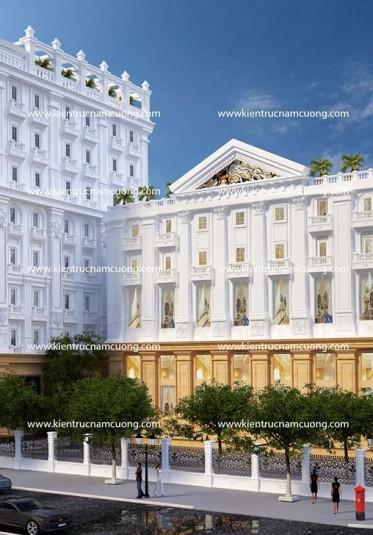Thiết kế tổ hợp khách sạn tân cổ điển tại Sài Gòn