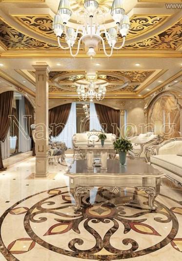 Mẫu thiết kế sảnh khách sạn phong cách cổ điển tại Cát Bà - Hải Phòng - NTKSCD 010