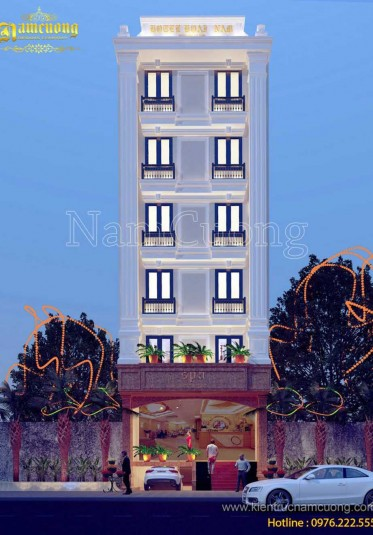 Thiết kế khách sạn kiến trúc tân cổ điển 7 tầng tại Sài Gòn - KSCD 010