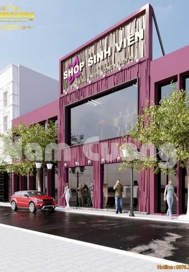 Năng động, cá tính dành cho sinh viên với mẫu thiết kế shop thời trang tại Hải Phòng