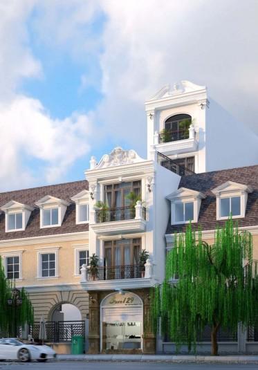 Hoàn thành thiết kế nhà ở kết hợp kinh doanh tân cổ điển ấn tượng