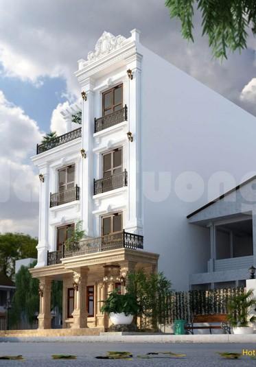 Hoàn thành thiết kế khách sạn tân cổ điển 4 tầng tại Thanh Hóa