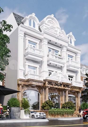 Hoàn thành thiết kế khách sạn 4 tầng kiến trúc Pháp