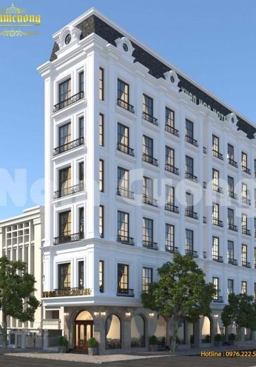 Thiết kế khách sạn tân cổ điển 7 tầng mái Marsand