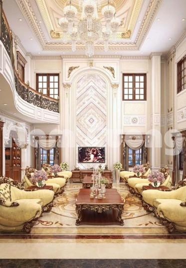 Thiết kế nội thất lâu đài cổ điển cho biệt thự