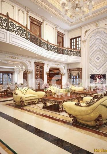 Thiết kế nội thất cho công trình biệt thự lâu đài  nguy nga