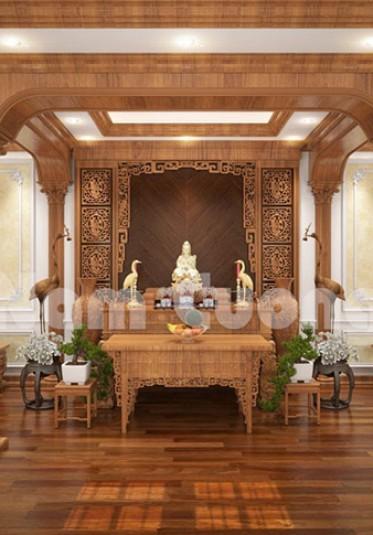 Mẫu thiết kế nội thất phòng thờ cho khách sạn tân cổ điển 11 tầng tại Quảng Ninh