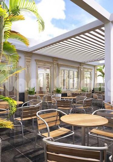 Thiết kế nội thất quán cafe tân cổ điển trên tòa nhà cao tầng