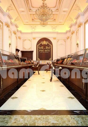 Thiết kế tiệm vàng sang trọng và đẳng cấp tại Nghệ An
